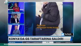 Konyada Galatasaray taraftarına çirkin saldırı