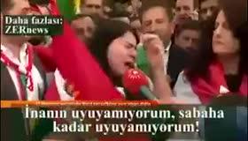 Barzani yandaşı kadın: Gavat Amerika neredesin