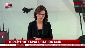 Türkiyede kapalı Batıda açık