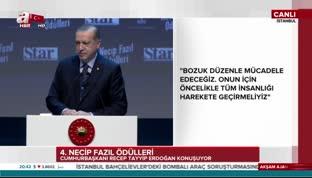 Cumhurbaşkanı Erdoğan'dan anlamlı şiir