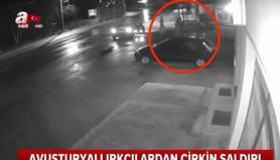 Futbolcu saldırganlar kameralara yakalandı