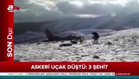 Ispartada düşen askeri uçağın enkazından ilk görüntüler