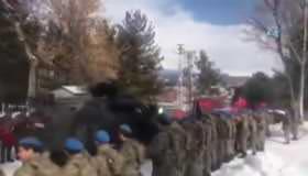 Sınıra gönderilen askerler böyle uğurlandı