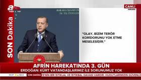 Cumhurbaşkanı Erdoğan: Afrinden geri adım atmak yok