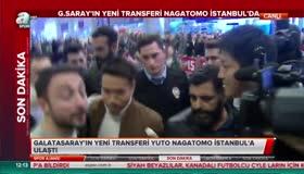 Galatasarayın yeni transferi Yuto Nagatomo İstanbulda