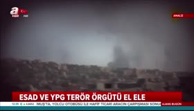 Esad ve YPG terör örgütü el ele
