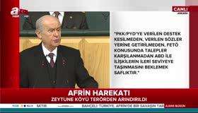 MHP lideri Bahçeliden Milli ittifak açıklaması