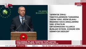 Erdoğan: Terör konvoyu Afrine giremedi, toplarımızla gereğini yaptık