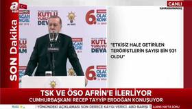Cumhurbaşkanı Erdoğan: Bunlar bir milletin küllerinden yeniden dirilişidir