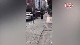 Kadınlar lüks otomobildeki bir kadını darp ederek  araçtan indirip sokak ortasında şiddet uyguladı!
