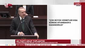 Cumhurbaşkanı Erdoğanın konuşması uzun süre ayakta alkışlandı