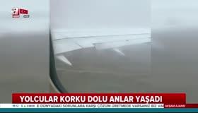 İstanbuldan kalkan yolcu uçağı fırtına nedeniyle iniş yapamadı